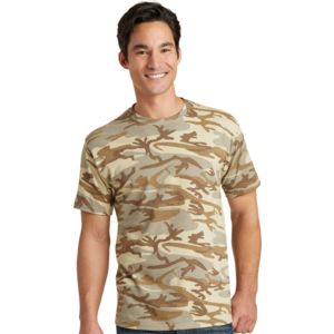 P&C Unisex 5.4oz Cotton Camo T-Shirt Thumbnail