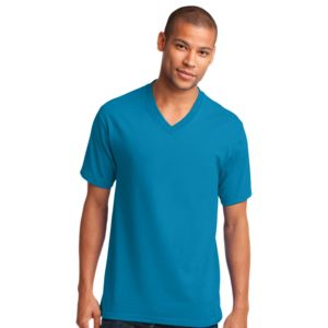 P&C Unisex 5.4oz Cotton V-Neck T-Shirt Thumbnail