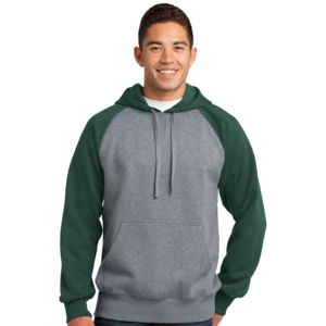 Sport Tek Unisex Colorblock Hooded Sweatshirt Thumbnail