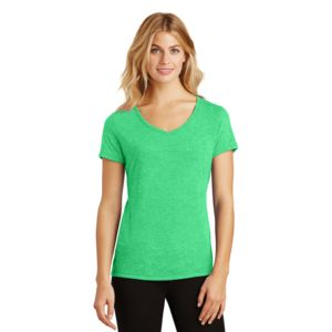District Made Ladies Tri-Blend V-Neck T-Shirt Thumbnail