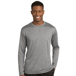 Sport Tek Unisex Poly Heather Long Sleeve T-Shirt Thumbnail