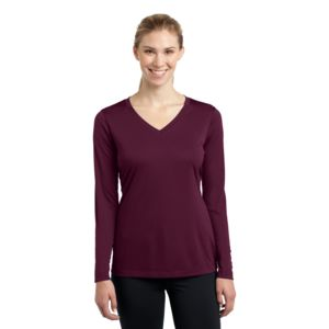 Sport Tek Ladies Long Sleeve Poly T-Shirt Thumbnail