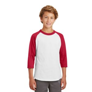 Sport Tek Youth 3/4 Baseball T-Shirt Thumbnail