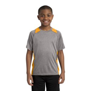 Sport Tek Youth Poly Heather Colorblock T-Shirt Thumbnail